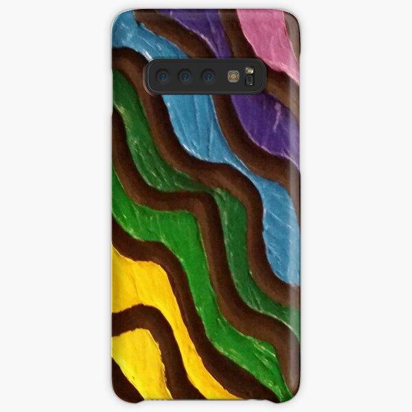 Rainbow Waves 2 Painting Samsung Galaxy Snap Case