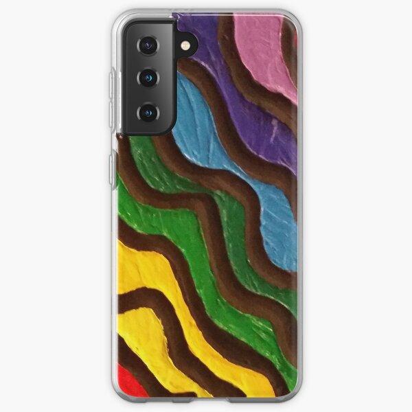 Rainbow Waves 2 Painting Samsung Galaxy Soft Case