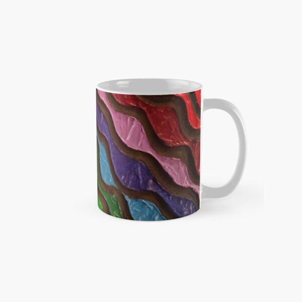 Rainbow Waves 2 Painting Classic Mug