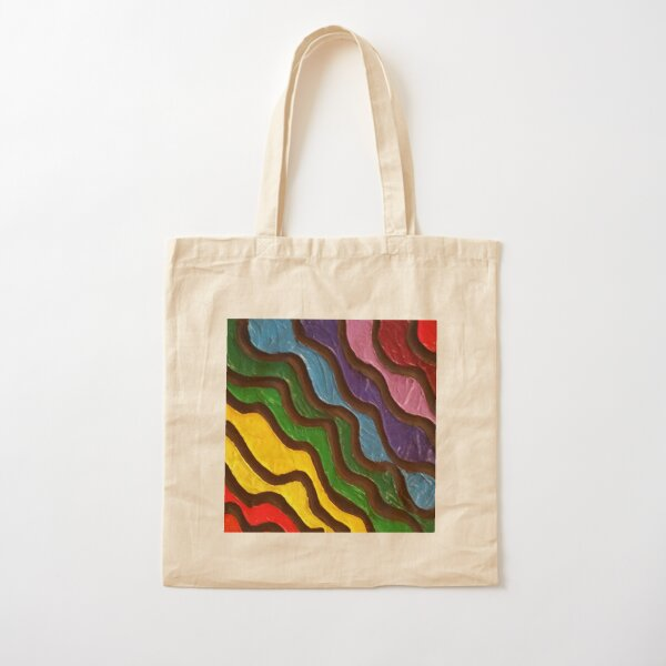 Rainbow Waves 2 Painting Cotton Tote Bag