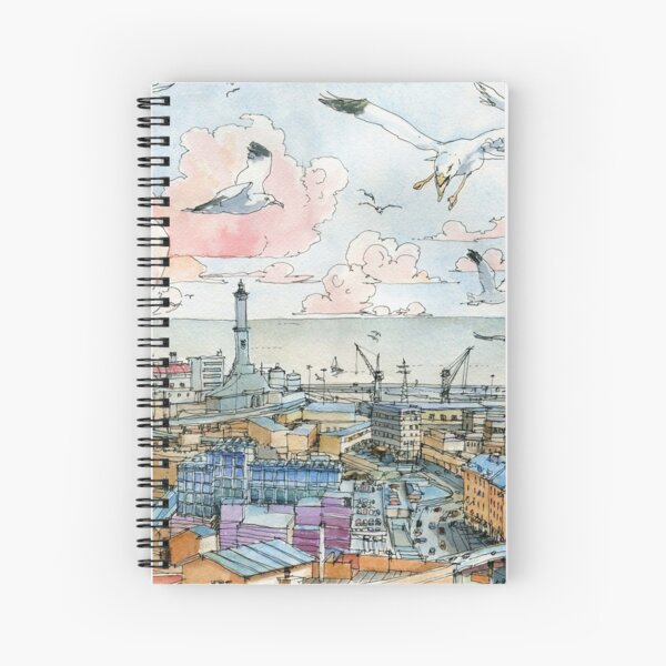 Genova e la Lanterna Spiral Notebook