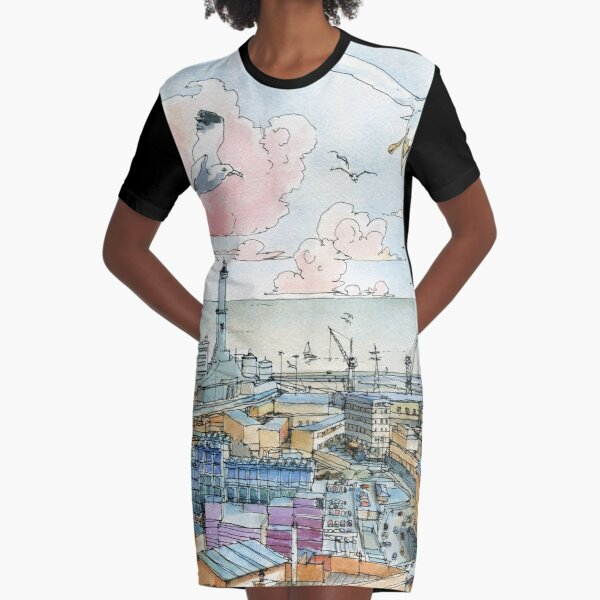 Genova e la Lanterna Graphic T-Shirt Dress