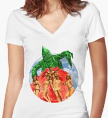 Beach Girls and the Monster Women's Fitted V-Neck T-Shirt