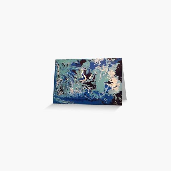 Wishy Washy Abstract Painting 1 Greeting Card