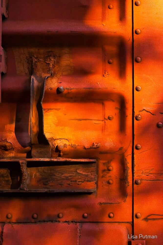 Orange Rusty Latch by Lisa Putman