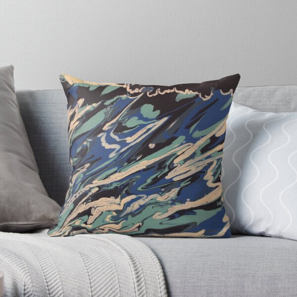 Wishy Washy Painting 2 Throw Pillow