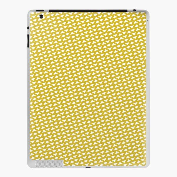 Triangle Reversed Pattern Print Mustard iPad Skin