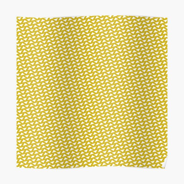 Triangle Reversed Pattern Print Mustard Poster