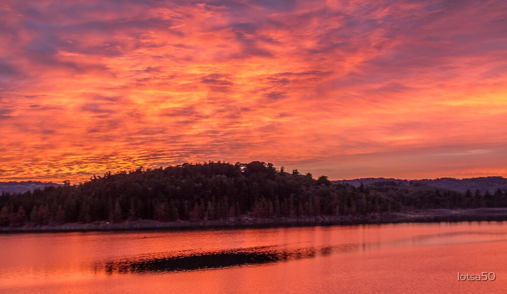 Gorgeous sunrise over Lake Cardinia by lotsa50