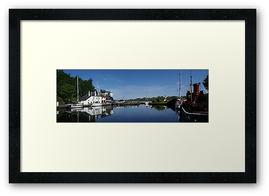 Waiting for the tide at Crinan by Gerry Allen