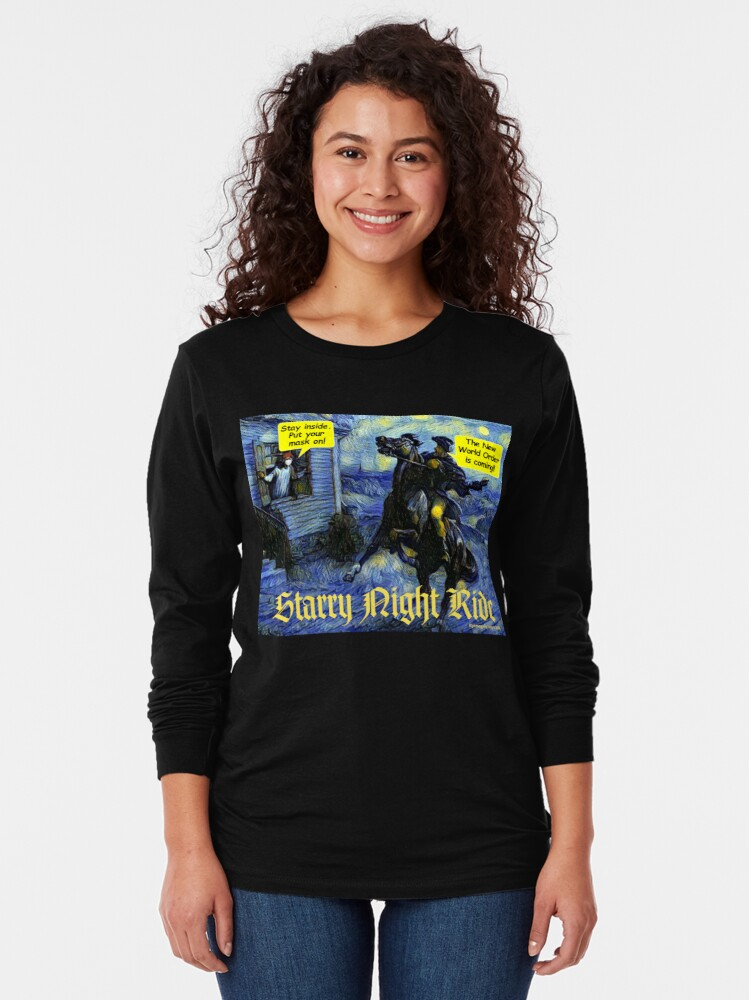 Alternate view of Starry Night Ride Long Sleeve T-Shirt