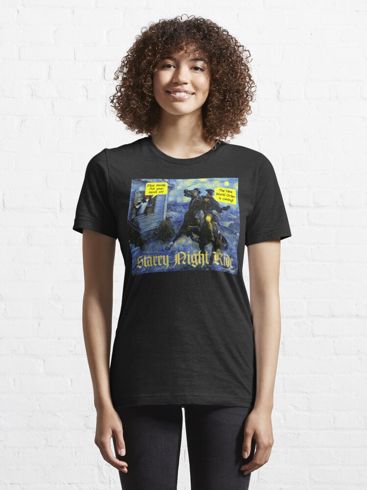 Alternate view of Starry Night Ride Essential T-Shirt