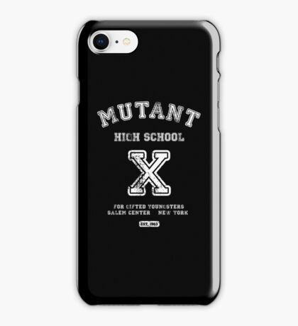 Mutant High School (Dark Colours Version) iPhone Case/Skin
