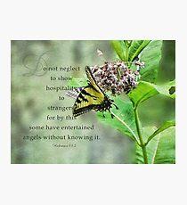 entertain strangers-Hebrews 13:2 Fotodruck