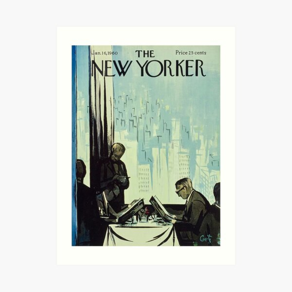 The New Yorker - 16 January 1960  Art Print