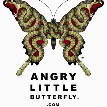 Angry Little Butterfly (TM) - Rattler Wings w/ Dark Text by tgreyparker