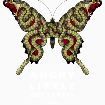 Angry Little Butterfly (TM) - Rattler Wings w/ White Text by tgreyparker