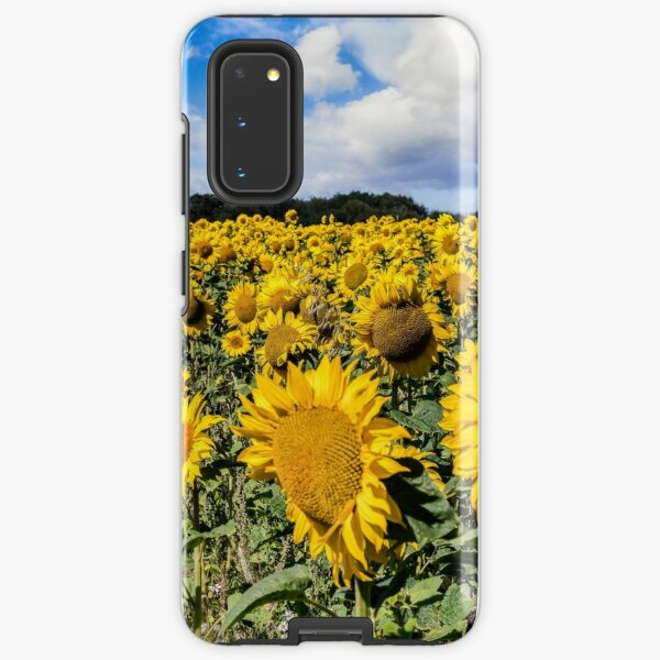 Field Of Sunflowers With A Blue Sky And Clouds Samsung Galaxy Tough Case