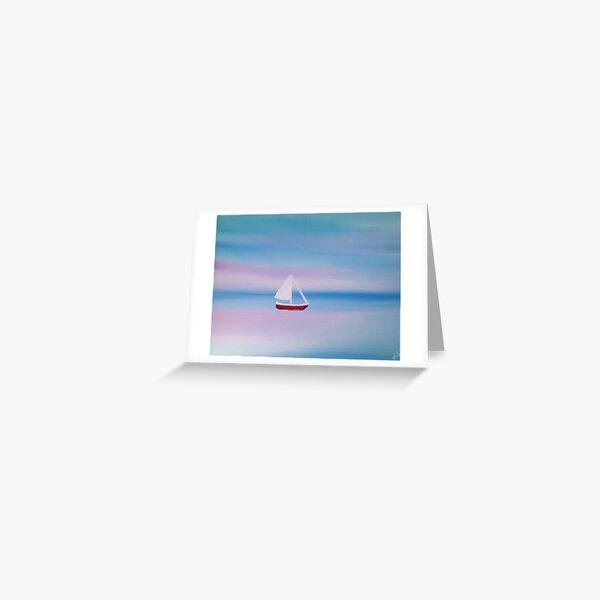 Sailboat Painting Greeting Card