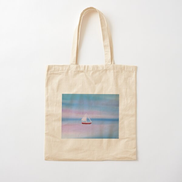 Sailboat Painting Cotton Tote Bag