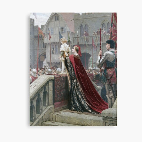 Edmund Blair Leighton - A Little Prince Likely In Time To Bless A Royal Throne Canvas Print