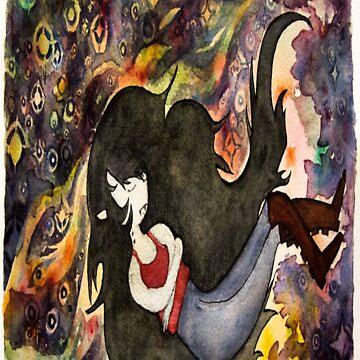 Watercolored Marceline by gwendellin