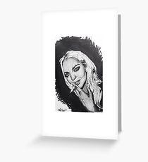 Lindsay Lohan Greeting Card