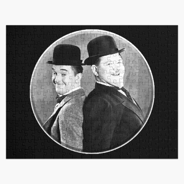 LAUREL AND HARDY. Stan Laurel and Oliver Hardy in their 1939 feature film called The Flying Deuces. Jigsaw Puzzle