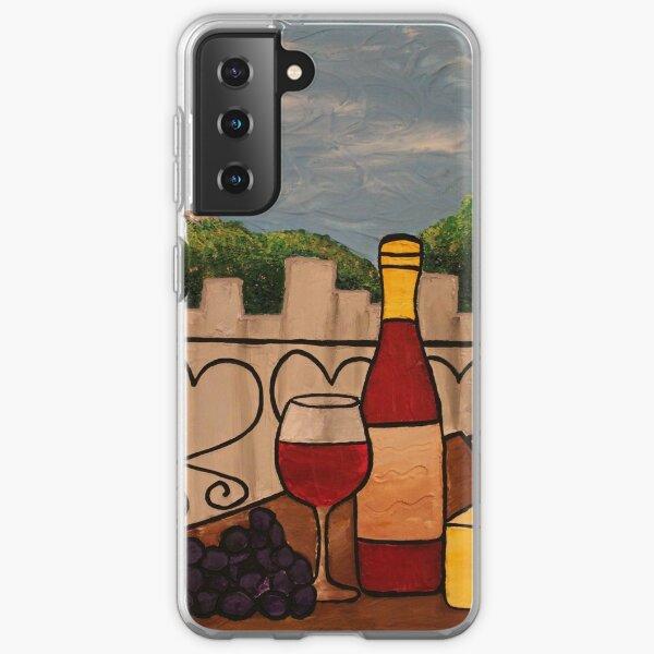 Wine on the Balcony Samsung Galaxy Soft Case