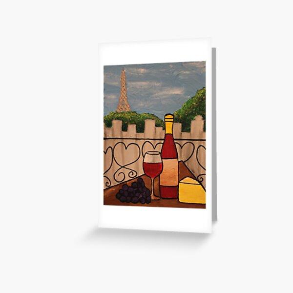 Wine on the Balcony Greeting Card