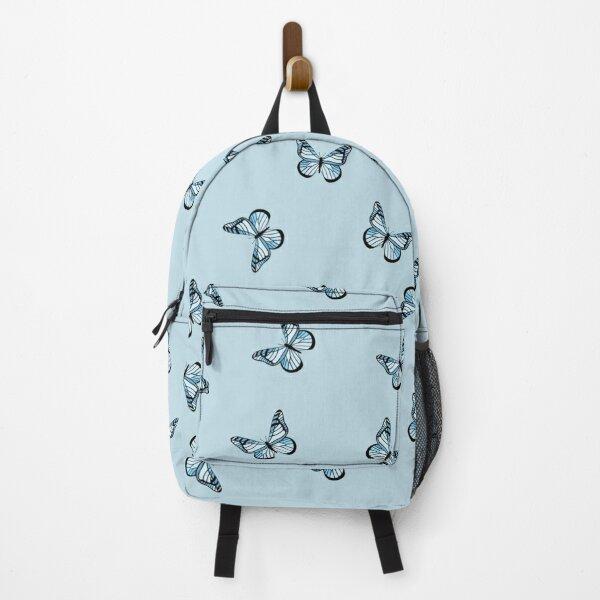 Blue pastel butterflies Backpack