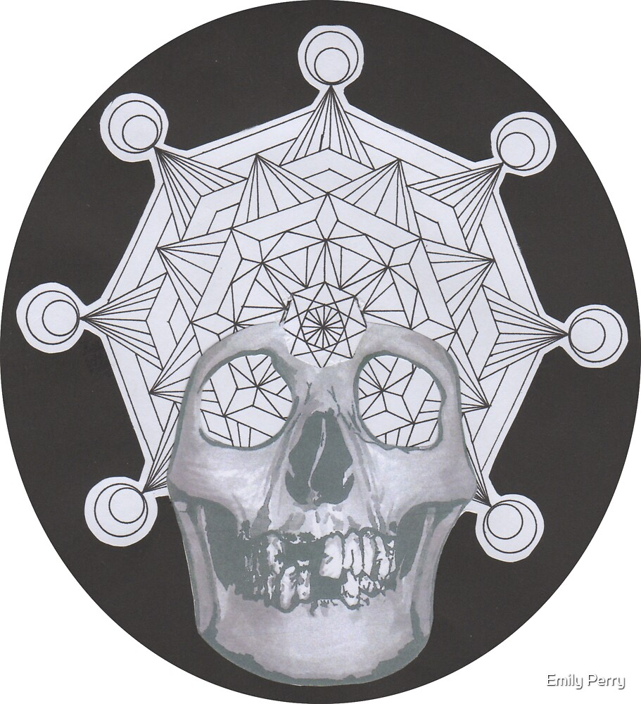 Mandala Skull by Emily Perry