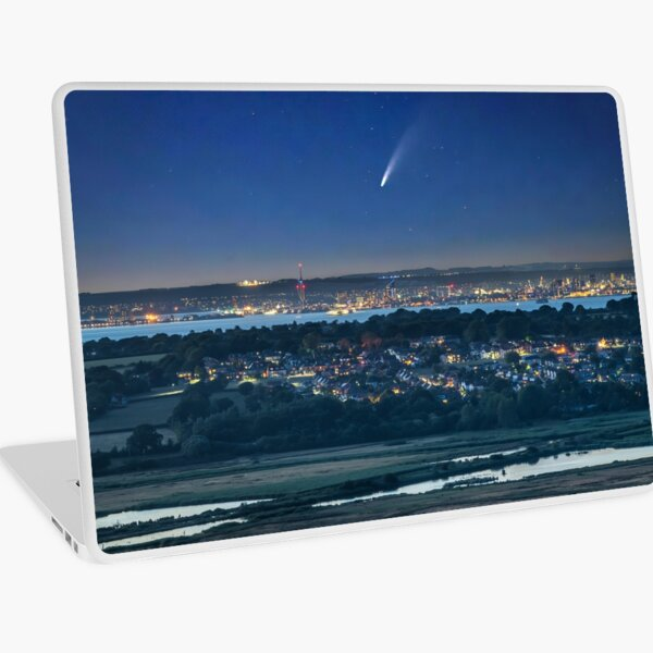 Comet Neowise Over Portsmouth  Laptop Skin