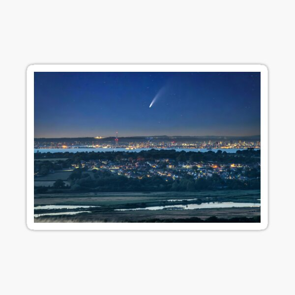Comet Neowise Over Portsmouth  Sticker