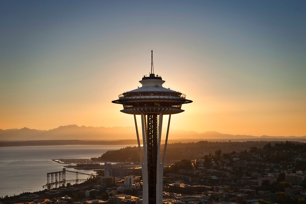 Seattle Space Needle by ahmerkalam