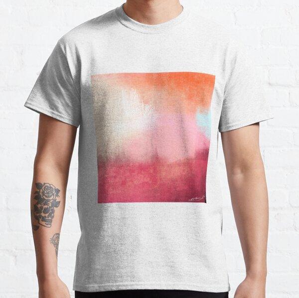 Pink & Red Sunset Mist Landscape Classic T-Shirt