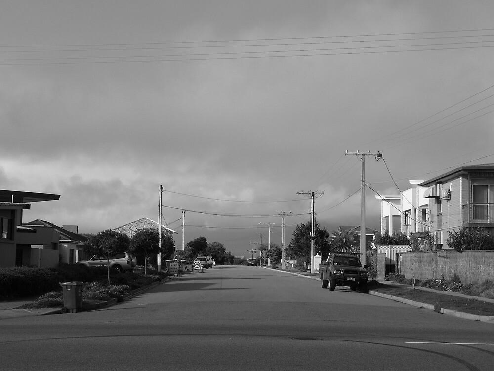Street in West Beach by Joan Wild