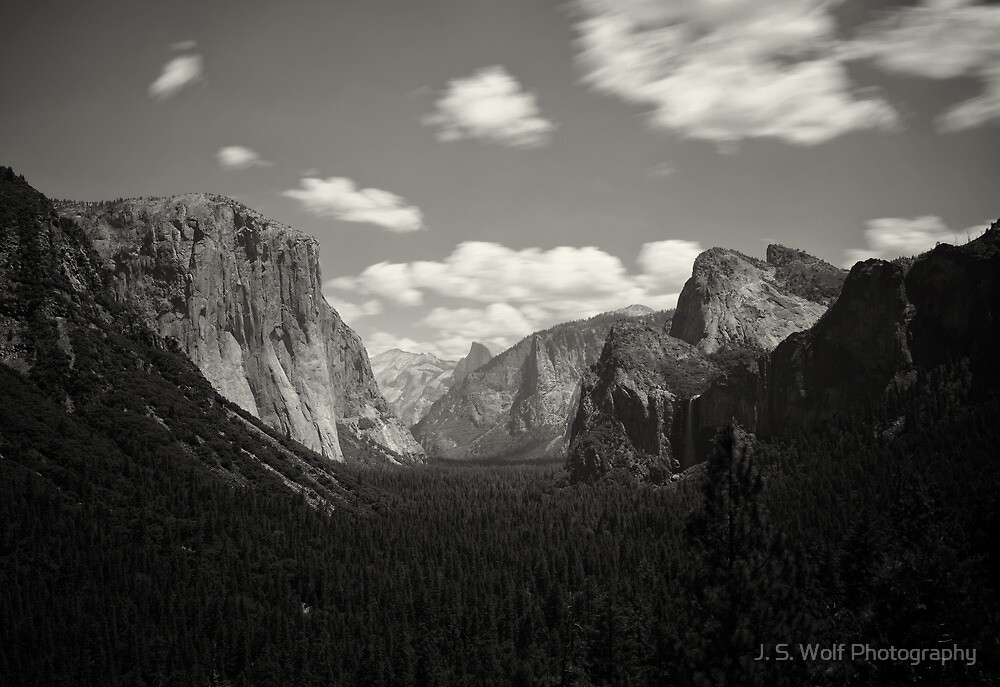 Tunnel View on Black by jswolfphoto