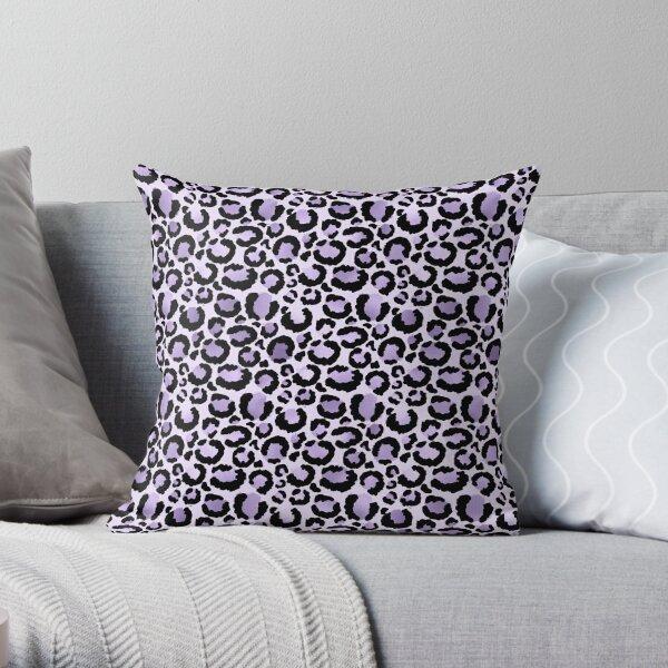 Lilac Leopard Print Throw Pillow