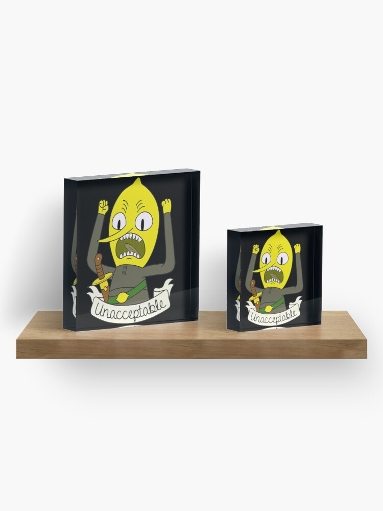 Alternate view of Lemongrab Acrylic Block