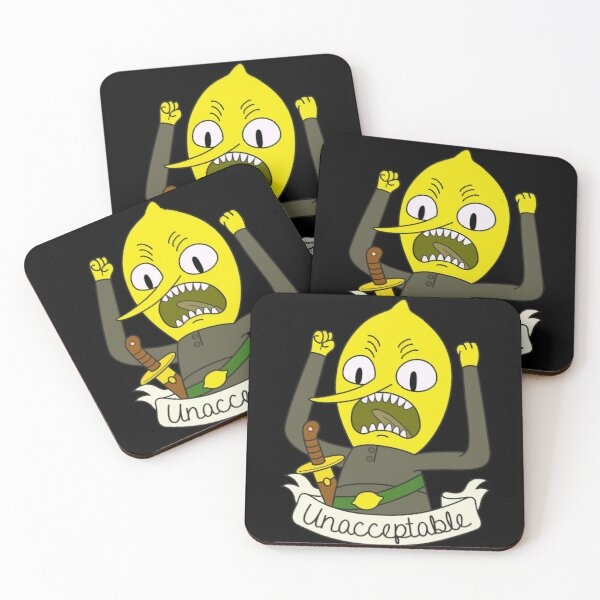 Lemongrab Coasters (Set of 4)