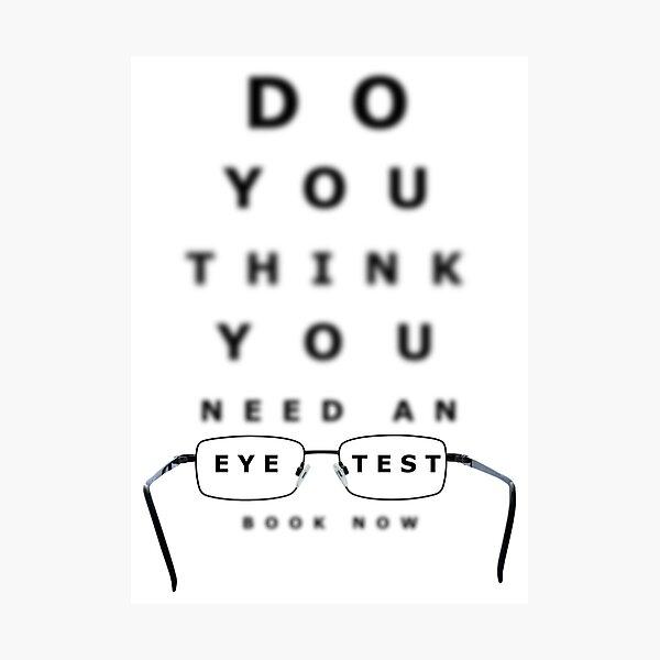 Eye Examination Chart Photographic Print