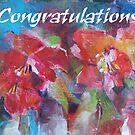 Congratulations Greeting Cards - Art - Flowers by Ballet Dance-Artist
