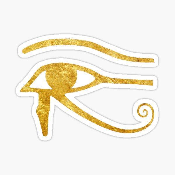 Golden Wadjet Eye / Eye of Horus (left) Sticker