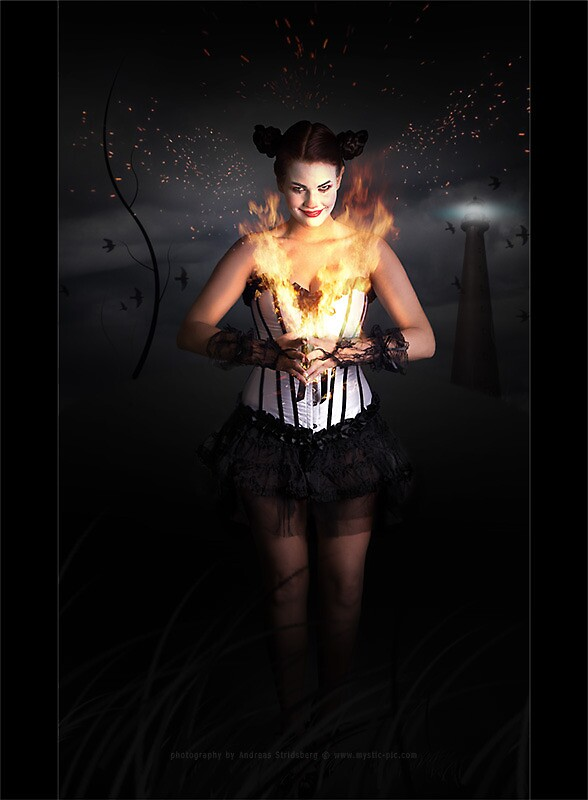 Burning Clown by Andreas Stridsberg