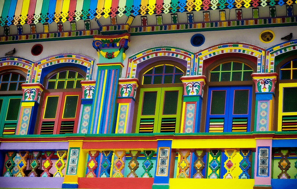 Colorful Building in Little India by jaymephoto