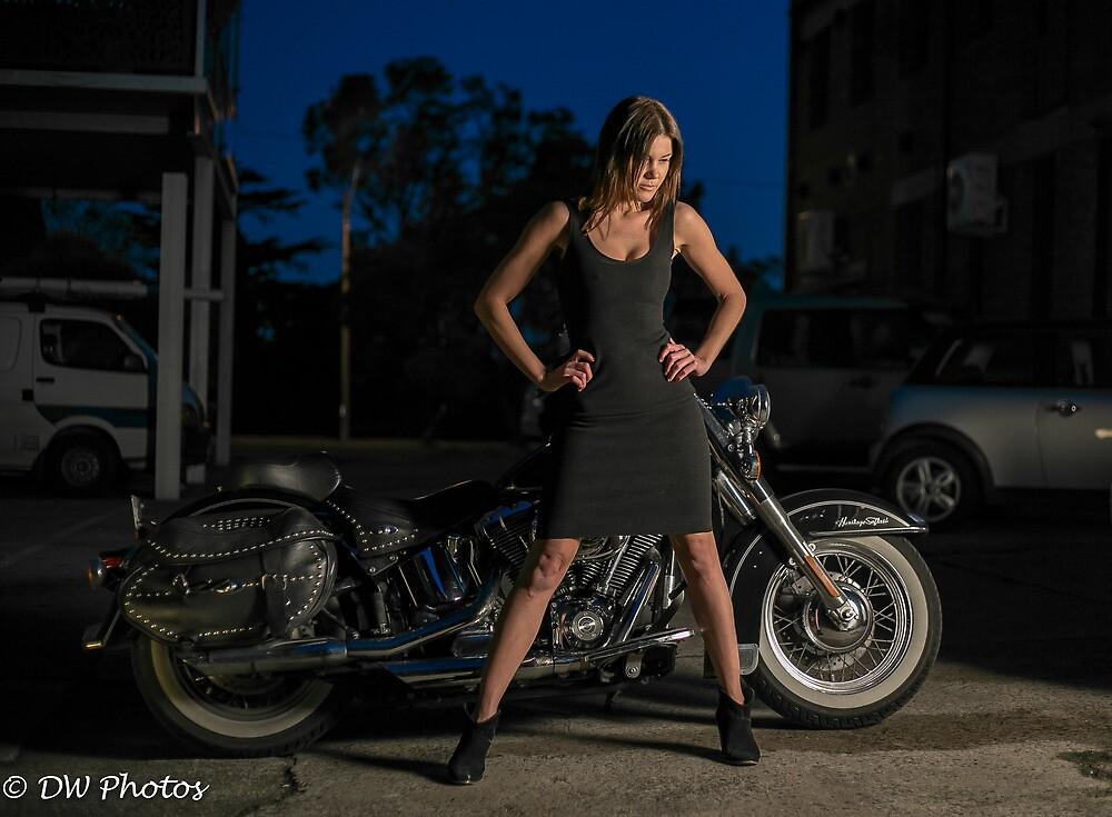Natalie, Harley Girl at Dusk by D W