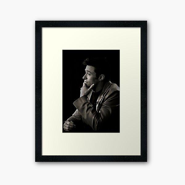 Hugh Jackman, ever thoughtful. Framed Art Print