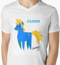 Cloud - BBBFF Version (FFVII & MLP) Mens V-Neck T-Shirt