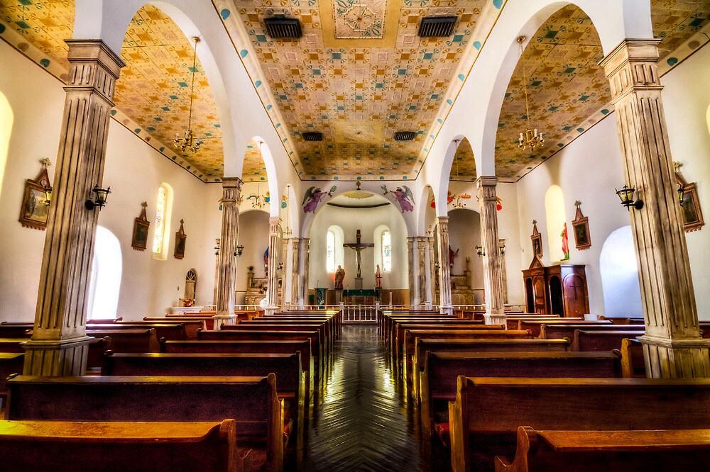 San Elizario Chapel - Interior View by Ray Chiarello